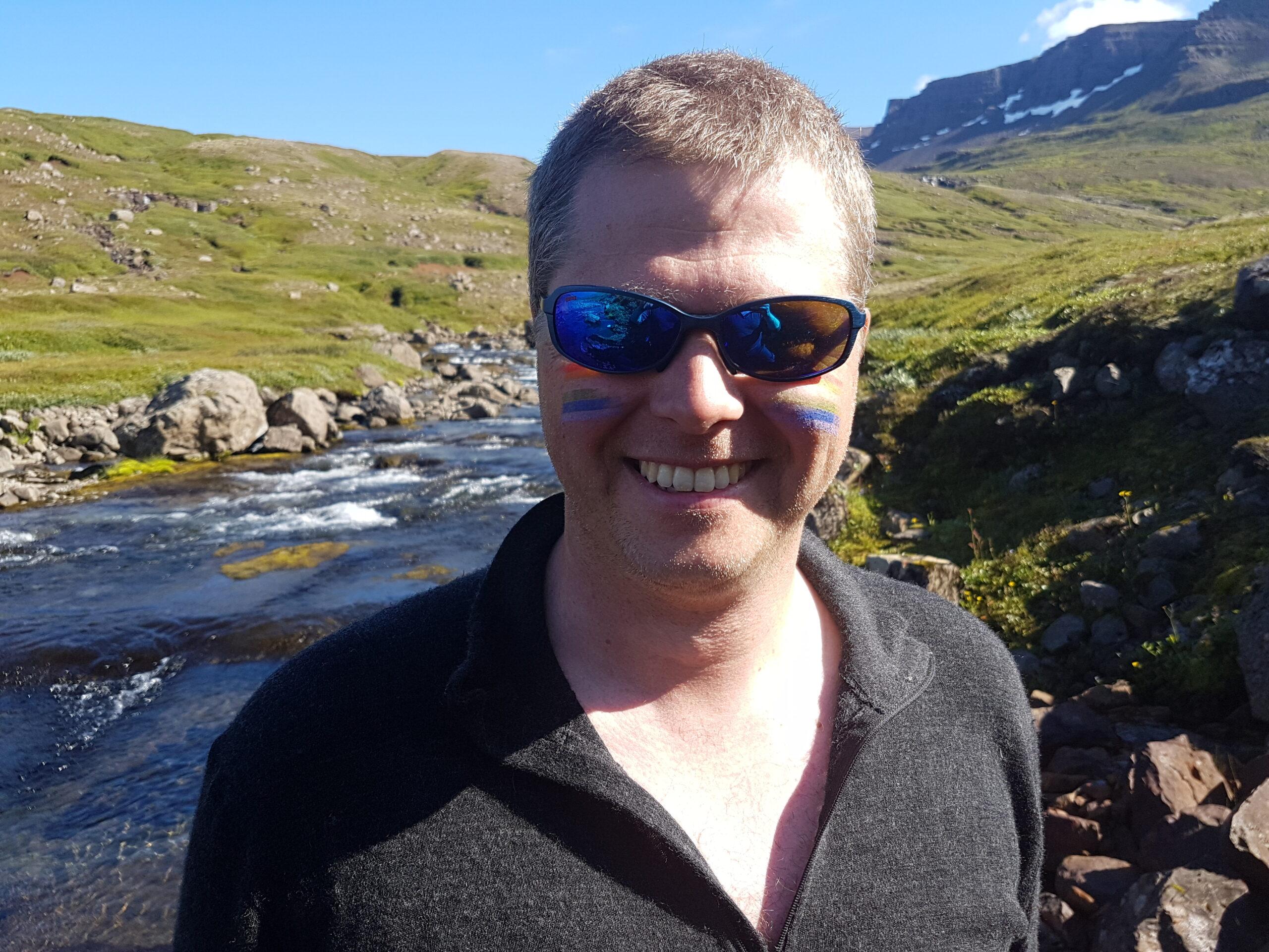 Happy Icelandic fly fishing guid