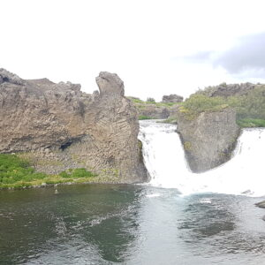 Fishing in the magnificent landscape of Iceland
