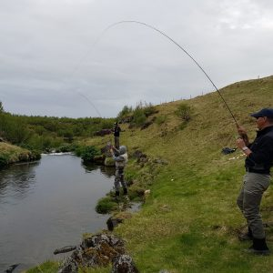 Anglers reeling in the catch