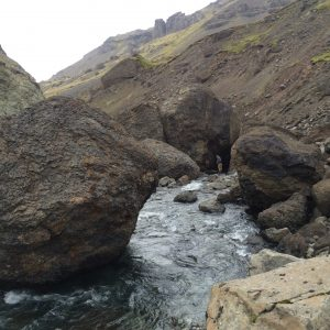 Amazing landscape for fly fishing in the rivers of Iceland