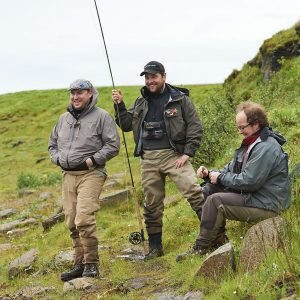 Anglers enjoying a good day of fishing in Iceland