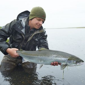 Beautiful atlantic salmon caught in West Ranga River
